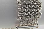 Beaded Flat Mesh Bracelet AS, Beginner Plus
