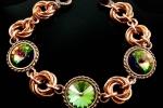Caribbean Green Mobius Bracelet CU, Beginner
