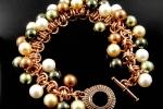 Barrel of Pearls Bracelet CU, Beginner to Beginner Plus