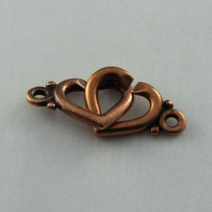 Hook Clasp, Copper, Sister Heart