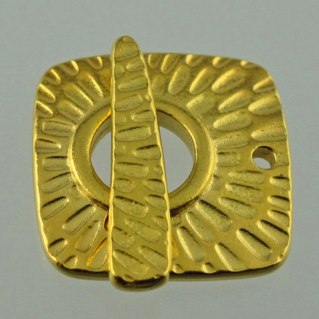 Toggle Clasp, Brass, Radiant square