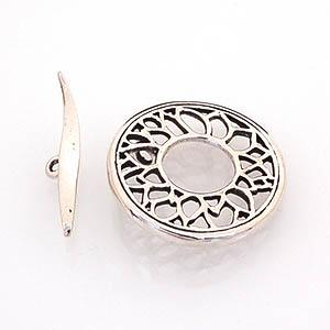 Toggle Clasp, SS, Round, Filigree