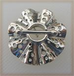 Toggle Clasp, White Bronze, Polka Dot Ruffle