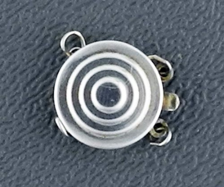 Box Clasp, Sterling Silver, Round, 2-strand