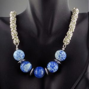 "Turkish Sky Necklace 18.5"" SF (Intermediate)"