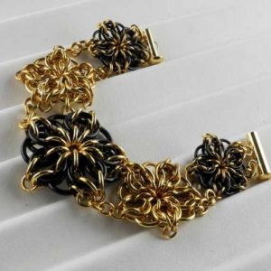 Celtic Stars Bracelet BR & BLK (Beginner Plus)