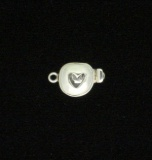 Clasp, Box, SS, Shadow Cut-Out Heart