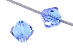 Swarovski Crystals, 5 mm Bicone, Sapphire