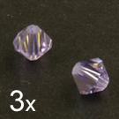 Swarovski Crystals, 4 mm Bicone, Violet