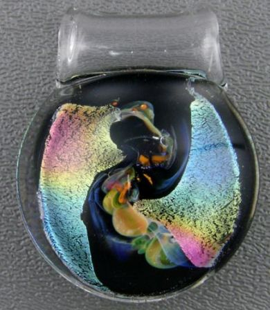 Pendant, Art Glass by Scott Summey