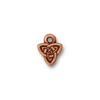 Charm, Copper, Celtic Triad Drop