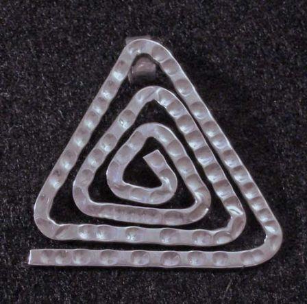 Pendant, SS, Triangular Spiral