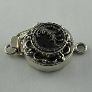 Box Clasp, SS, Antique Detail, safety catch