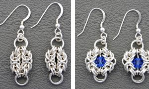 Byzantine Two-By-Two Earrings SS (Beg.)