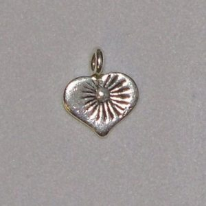 Charm, SS, Small detailed heart