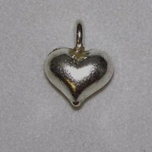 Charm, SS, Small puffy heart
