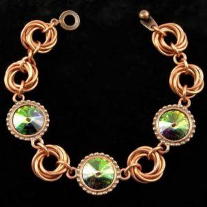 Caribbean Green Mobius Bracelet CU (Beginner)