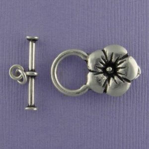 Clasp, Toggle, SS, Flower