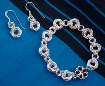 Mobius Earrings & Bracelet
