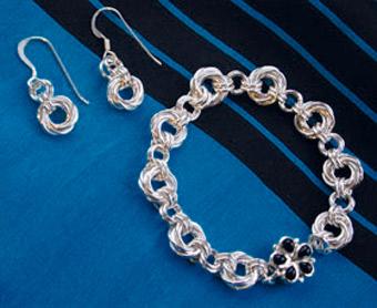Mobius Earrings & Bracelet