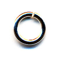 Silver Filled Jump Rings, 18 gauge, 6.0mm ID, Partial
