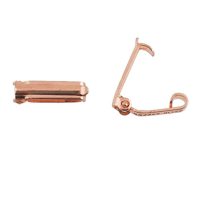Foldover clasp, copper 13mm