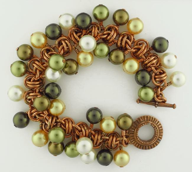 Barrel of Pearls Bracelet CU (Beginner to Beginner Plus)