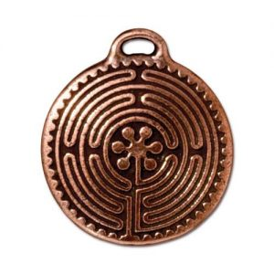 Pendant, Copper, Labyrinth