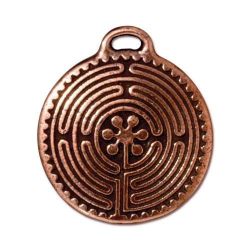 Pendant, Copper, Labyrinth
