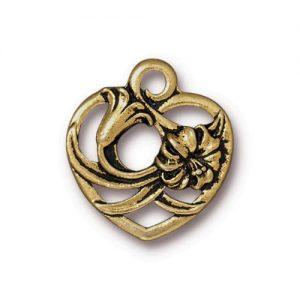 Charm, GA, floral heart