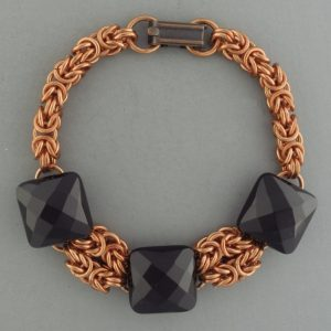 Byzantine Gemstone Bracelet CU (Beginner Plus)