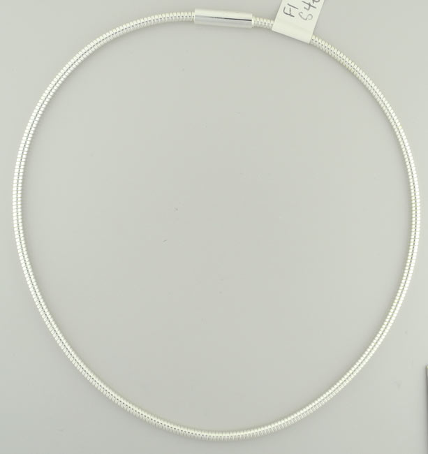 "Neck chain, silver, 18"", 3mm"