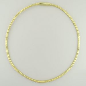 "Neck chain, gold, 16"", 3mm"