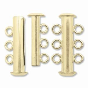 Clasp Tube w/3 rings GP Magnetic