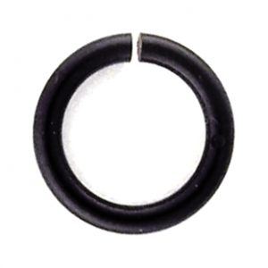 Black Enam. Copper Jump Rings, 18 gauge, 6.25mm ID