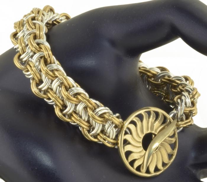 Kinged Basketweave Bracelet BR/SF (Advanced)