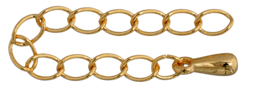 """Necklace Extender, Gold Plated, 2"""""""