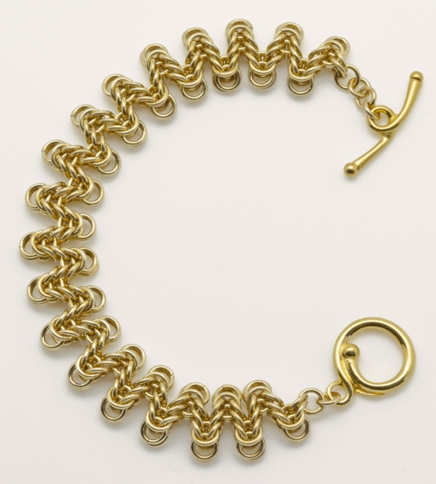 Staggered Boxchain Bracelet BR (Beginner Plus)