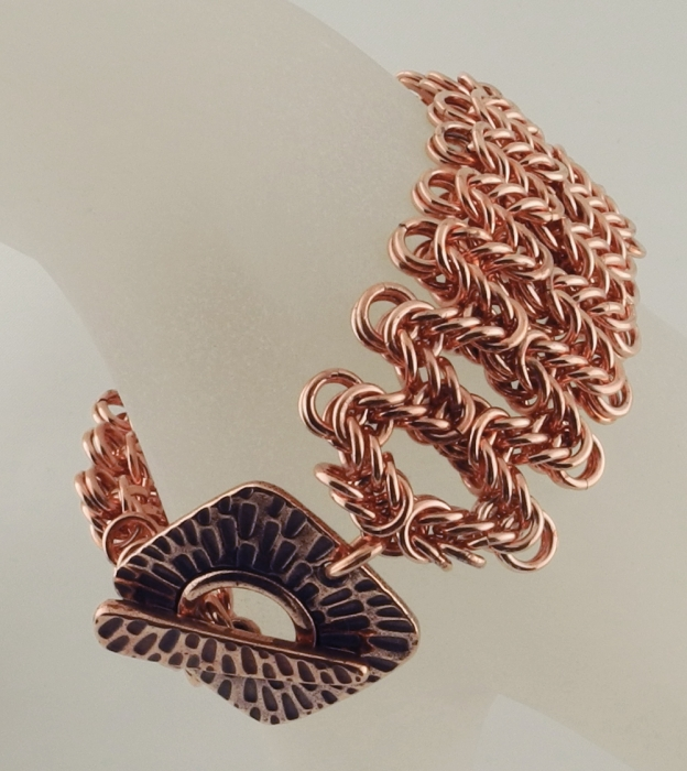 Staggered Byzantinne Bracelet CU (Beginner Plus)